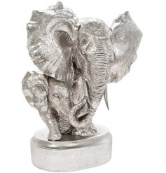 Bring a statement look to any sideboard or unit in the home with this beautifully finished Silver Art Elephant Bust