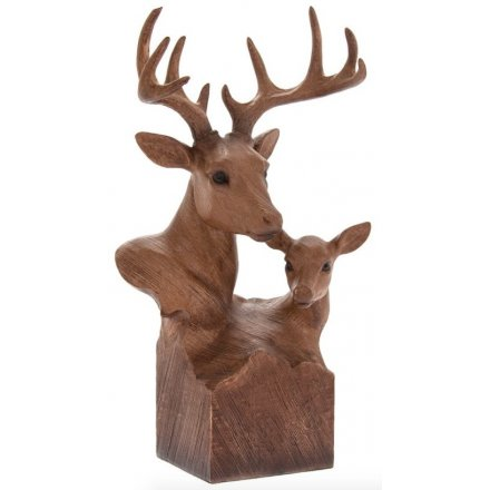 Animal Kingdom Wooden Stag Bust