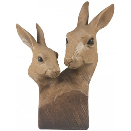 Animal Kingdom Wooden Hare Bust