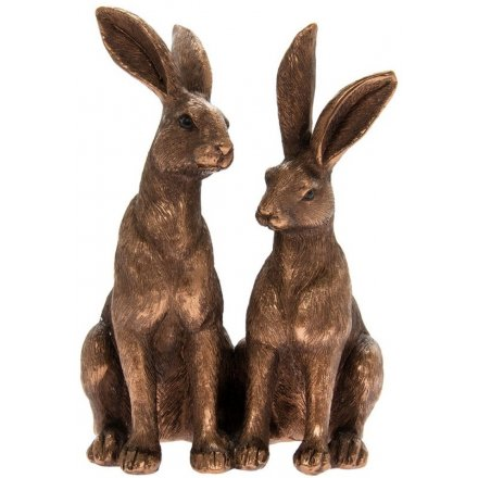 Bronzed Ornamental Hares