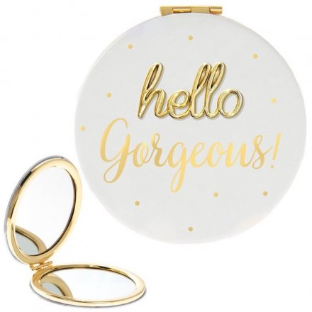 'Hello Gorgeous' Oh So Compact Mirror
