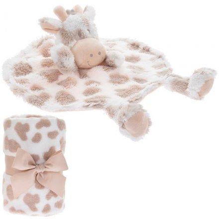 Giraffe Comforter & Blankie Set