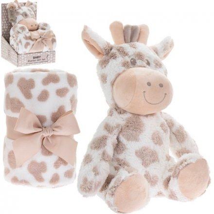 Giraffe Soft Toy & Blankie Set