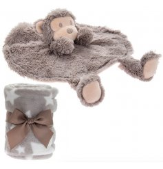this adorable Monkey themed Comforter and Star printed Blanket Set will be sure to make a wonderful gift idea
