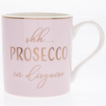 Shh Prosecco Pink Mug