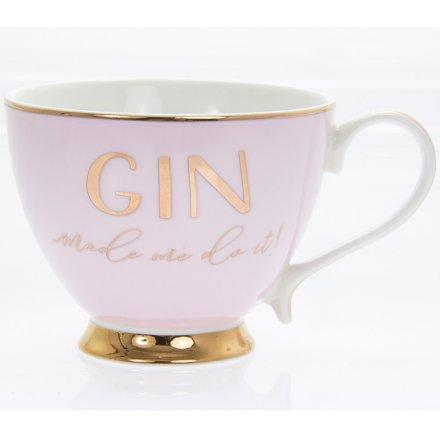 Gold Footed Mug - Gin