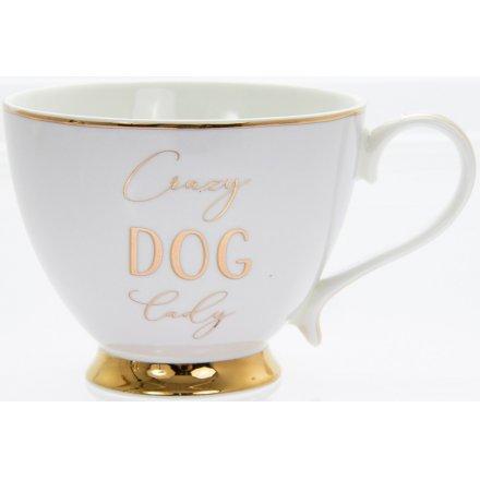 Gold Footed Mug - Dog Lady