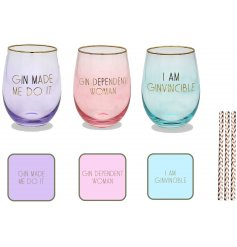 Enjoy your bubbles in a colourful manner with this stylishly sleek set of Glassware and accessories