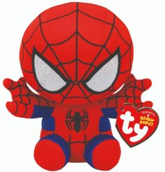Swing into action and play time with the help of this Spidey soft toy!