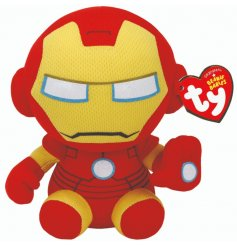 A soft and cuddly version of the one and only Iron Man! From the fun themed TY Beanie Baby Range