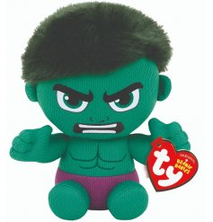 Avengers Assemble! This cute and cuddly Incredible Hulk Soft Toy is part of a wide Beanie Baby TY Range!