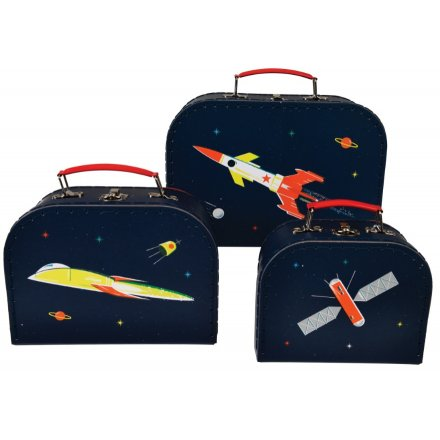 Part of the fun Space Age range from REX International is this set of 3 sized carry cases