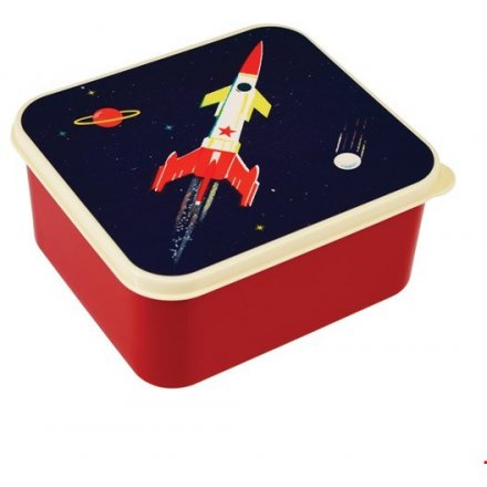 Space Age Square Lunch Box