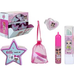 A fab display unit of 6 assorted LOL Surprise Make Up capsules