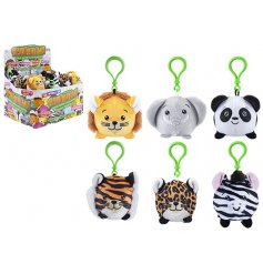 A fun little mix of plush bag clips in an assortment of shapes