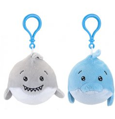 A fun little mix of plush bag clips in a dolphin and shark form!