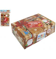 The perfect box to fill with goodies for your children to receive as an early gift on Christmas Eve.