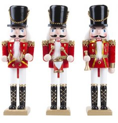 A traditional nutcracker brass band assortment of three