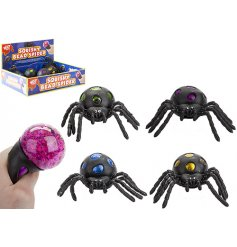 Squishy toys are very on trend at the minute and so we bring you this squishy black spider that oozes colourful beads.