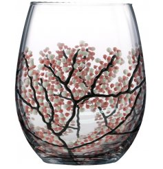 This beautifully hand finished Stemless Glass will make a gorgeous gift idea for anybody at christmas or birthdays