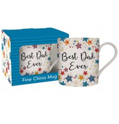 Covered with colourful stars, this scripted text mug and gift box will be sure to make any awesome dad smile!