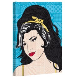 A large hard back notebook featuring a Pop Art Amy Winehouse inspired print