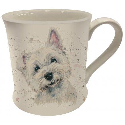 Bree Merryn Splash Art Westie Mug