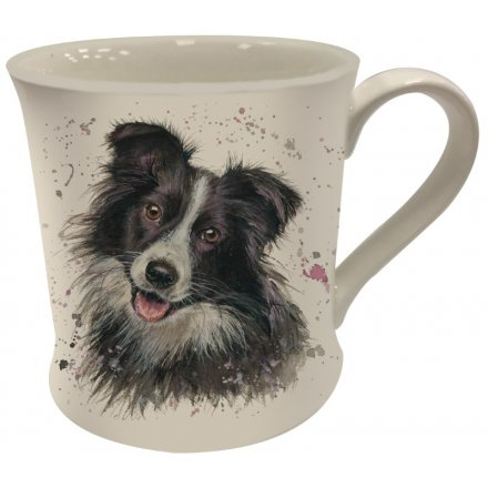 Bree Merryn Splash Art Collie Mug