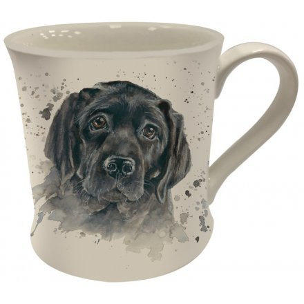 Bree Merryn Splash Art Black Lab Mug
