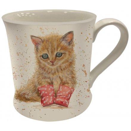 Bree Merryn Splash Art Ginger Kitten Mug