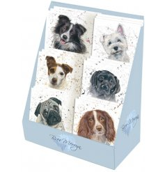 6 assortments of printed mini Greetings Cards, Perfectly set within a display stand