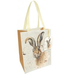 Wrap your gifts with love with this charming country living style gift bag with fabric handle and matching tag.