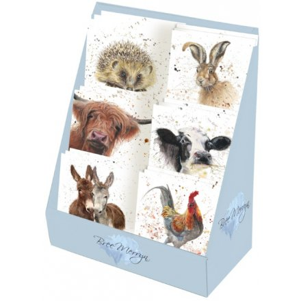 Bree Merryn Assorted Mini Greetings Cards - On The Farm