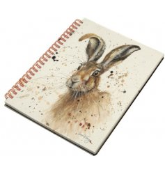 A country living style A6 notebook with a whimsical Hugh Hare design.