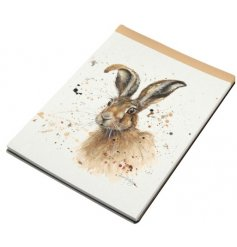A country living style hare design notebook. A wonderful gift item and stationery essential.