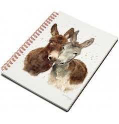 A hard back notebook with a sweet Jack & Diane Donkey printed decal