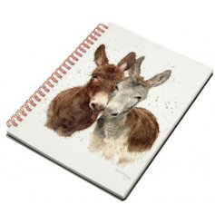 A charming little notepad featuring a Splash Art Donkey decal