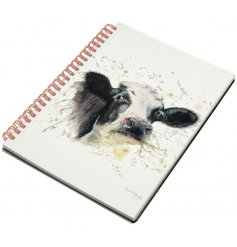 Set with a cute Clover Cow print in a splash effect, this small little notebook will be perfect for notes and memos