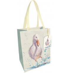 A fine quality gift bag with cotton handle and matching tag. A charming wrapping solution