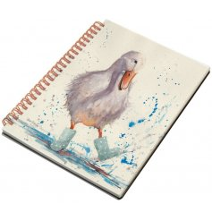Fall in love with this charming country living style notebook with a beautiful puddle duck design.