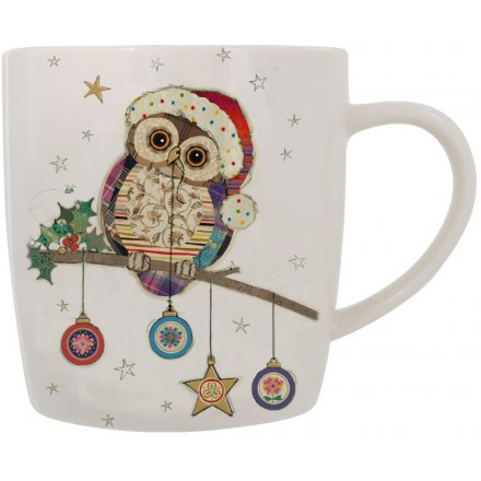 Owl & Bauble Ceramic Mug