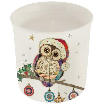 Christmas Owl Candle