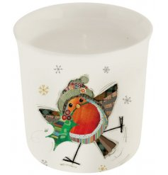 this small porcelain candle pot will be sure to place perfectly in any kitchen
