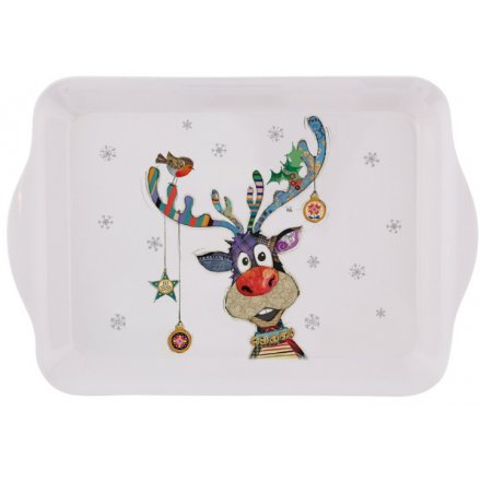 Colourful Rudolph Small Serving Tray
