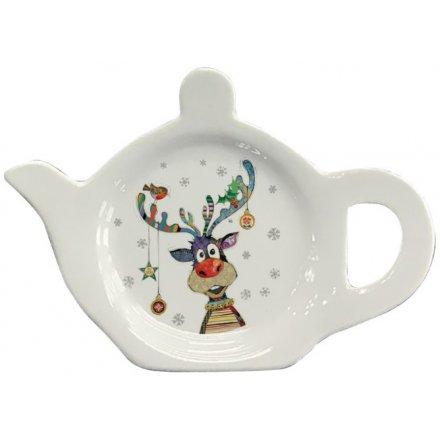 Colourful Rudolph Teabag Tidy