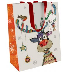 Add a fun festive feel to your gift giving at Christmas Time with this cute gift bag
