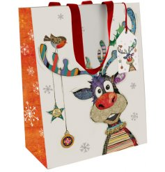Add a fun festive feel to your gift giving at Christmas Time with this cute gift bag from the Bug Art range