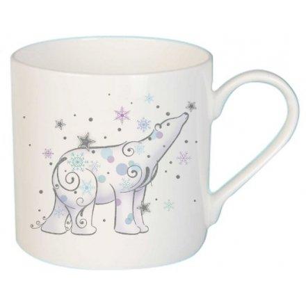 Whimsical Polar Bear Ceramic Mug