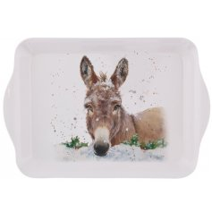 A small and practical tray with an adorable Dana donkey illustration. A must have gift item and kitchen essential.