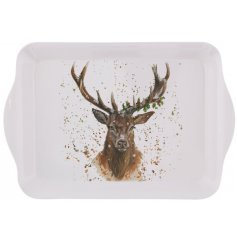 A charming stag design small tray. A quality tableware item and gift product
